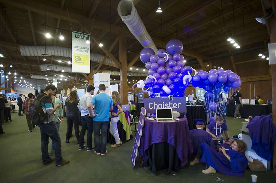 Russian online education startup Choister is among the companies that had exhibits at the Tech Crunch Disrupt SF conference this month. Photo: David Paul Morris, Bloomberg