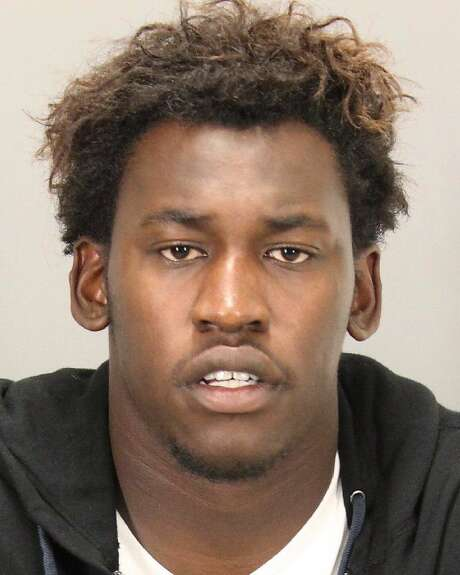 In a photo provided by the San Jose Police Department, San Francisco 49ers linebacker Aldon Smith appears in a booking photo. Smith was arrested Friday Sept. 20, 2013, in San Jose, Calif., on suspicion of driving under the influence and marijuana possession, authorities said. (AP Photo/San Jose Police Department) Photo: Associated Press