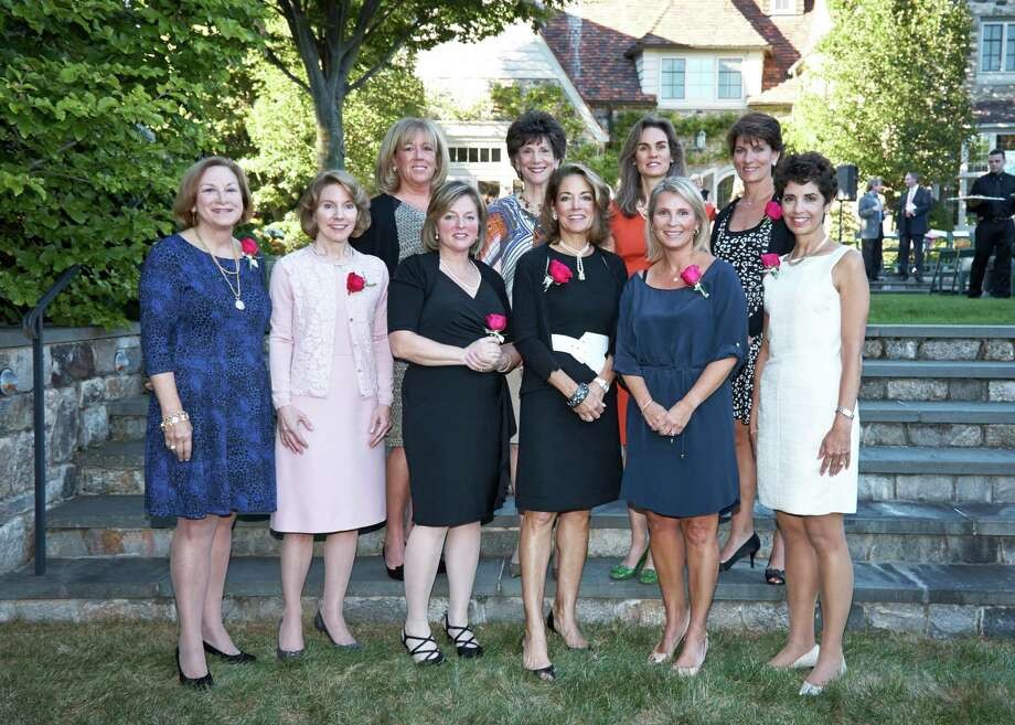 Recipients of this year's YWCA Spirit of Greenwich Awards are: Front row, from left: Susan V. Mahoney, Karen S. Keegan, Debbie Siciliano, Anne S. Harrison, Michelle L. Smith, and Diane M. Blanchard. Back row, from left: Susan V. Arturi, Jane M. Batkin, Anne Wallace Juge and Heather Wise. Photo: Contributed Photo / Greenwich Time contributed