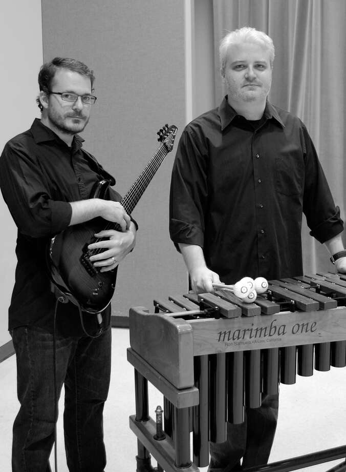 Composer and guitarist George Heathco, left, and percussionist Luke Hubley are co-founders and co-artistic directors of Liminal Space Contemporary Music Ensemble. Photo: Amanda Heathco