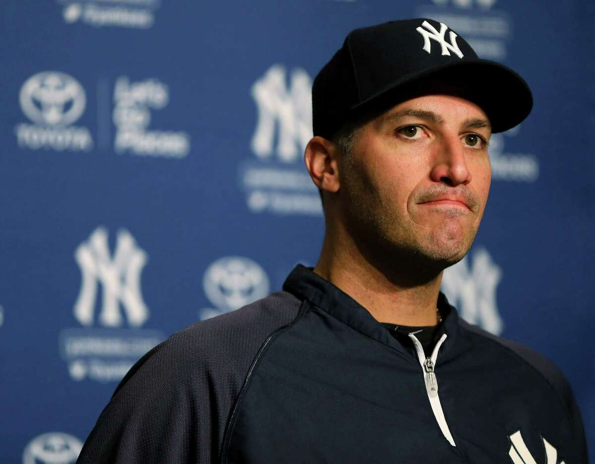 NEW YORK, NY - SEPTEMBER 20: Andy Pettitte #46 of the New York Yankees announces his retirement during a press conference before the game against the San Francisco Giants on September 20, 2013 at Yankee Stadium in the Bronx borough of New York City. Pettitte will retire at the end of the season.