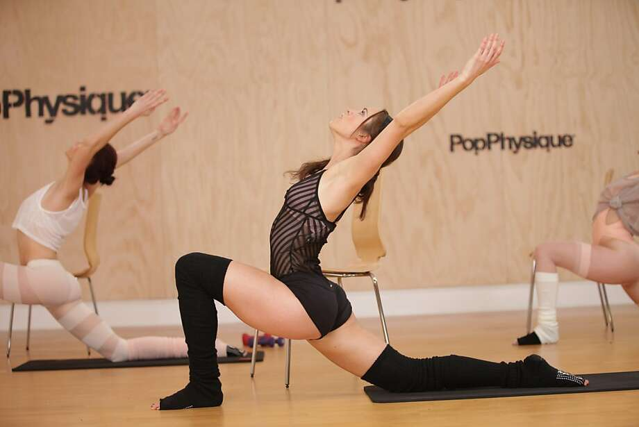 The moves are classically of the Lotte Berk Method (similar to other popular barre classes), but the Zen-like aesthetic of the space and clear no-gimmick instruction make Pop Physique (2424 Polk St.) stand out. Photo: Pop Physique/Watch It Now