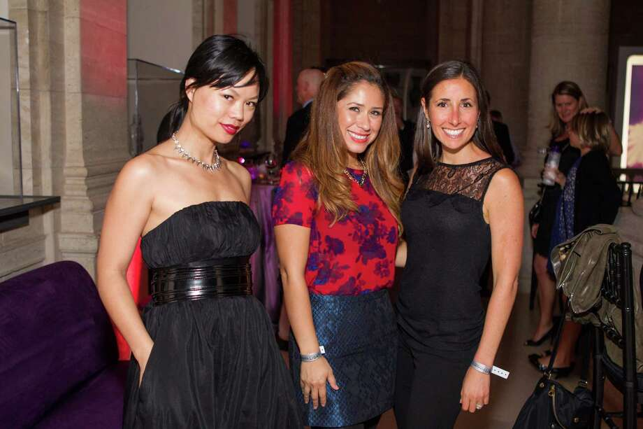 Olivia Ng, Martha Gildemontes and Megan Pardo at Macy's Passport Presents Glamorama at the Orpheum Theatre on September 19, 2013. Photo: Drew Altizer Photogaphy / © 2013 Drew Altizer