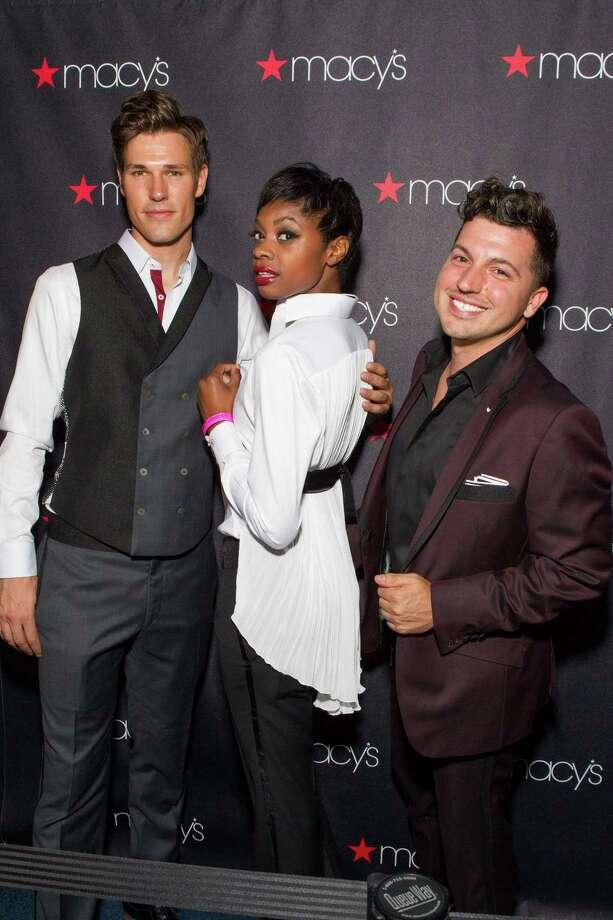 Adam Nisbit, Melissa Gray and Jake Wall at Macy's Passport Presents Glamorama at the Orpheum Theatre on September 19, 2013. Photo: Drew Altizer Photogaphy / © 2013 Drew Altizer
