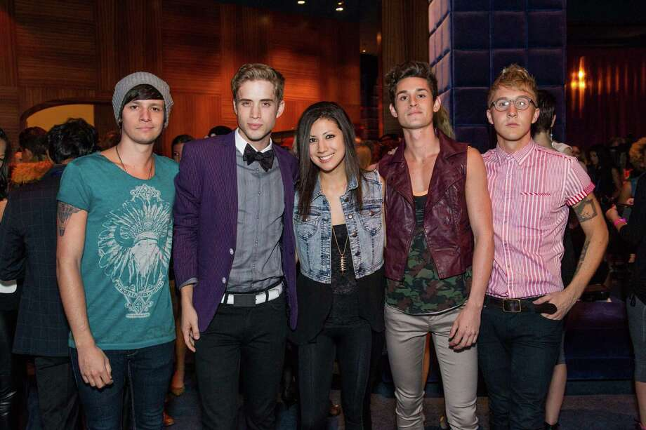 Stephen Gomez, Brian Logandales, Jess Bowens, John Gomez and Josh Montgomery at Macy's Passport Presents Glamorama at the Orpheum Theatre on September 19, 2013. Photo: Drew Altizer Photogaphy / © 2013 Drew Altizer