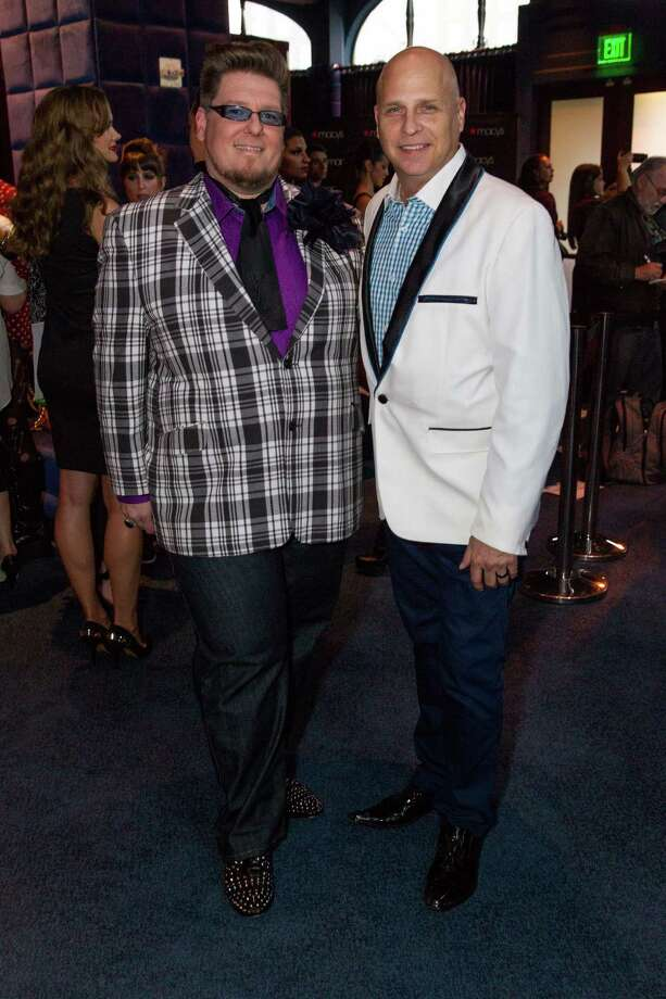 Paul Anthony and Mike Gansmoe at Macy's Passport Presents Glamorama at the Orpheum Theatre on September 19, 2013. Photo: Drew Altizer Photogaphy / © 2013 Drew Altizer