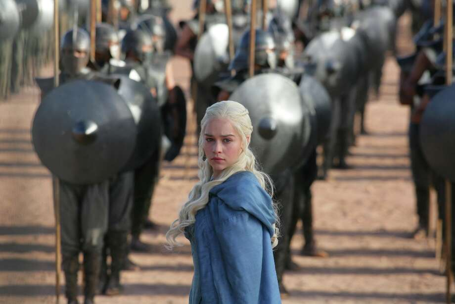 "Emilia Clarke, as Daenerys Targaryen, is probably ""Game of Thrones'"" most recognized chameleon. She's pictured from Season 3. Photo: HBO"