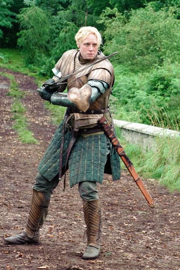 Gwendoline Christie, as Brienne of Tarth in Season 3. Photo: HELENSLOAN, HBO / HBO