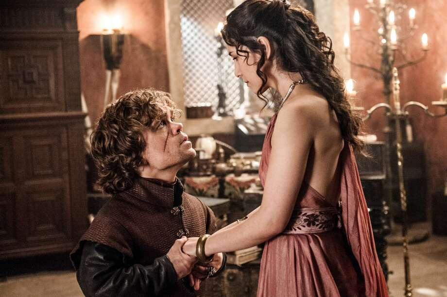 Peter Dinklage, as Tyrion Lannister, and Sibel Kekilli, as Shae, in Season 3. Photo: HELENSLOAN