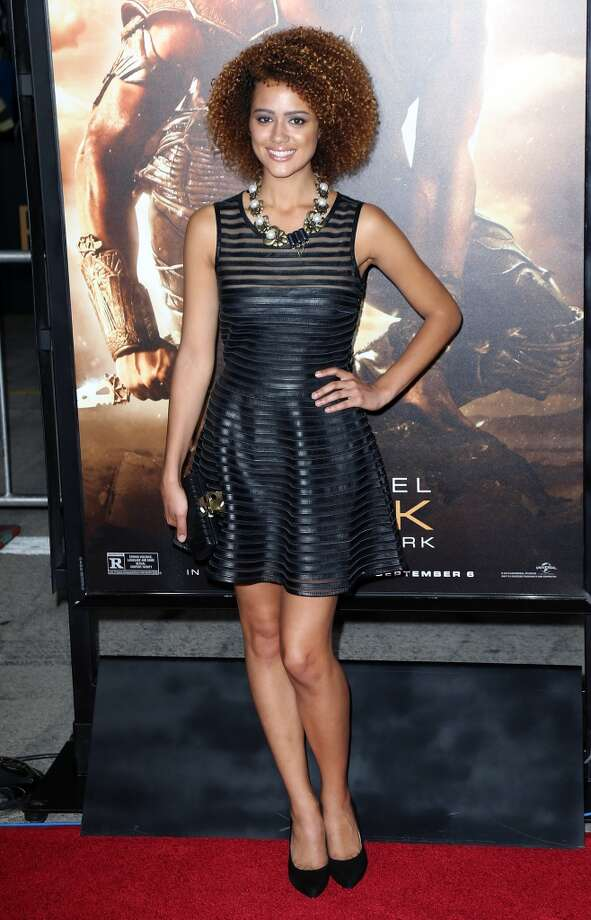 "Nathalie Emmanuel at the ""Riddick"" premiere on August 28, 2013. Photo: David Livingston, Getty Images"