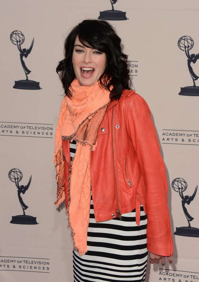 Lena Headey in real life, looking completely unrecognizable. (Didn't see this one coming, did you?)  Photo: Mark Davis, WireImage