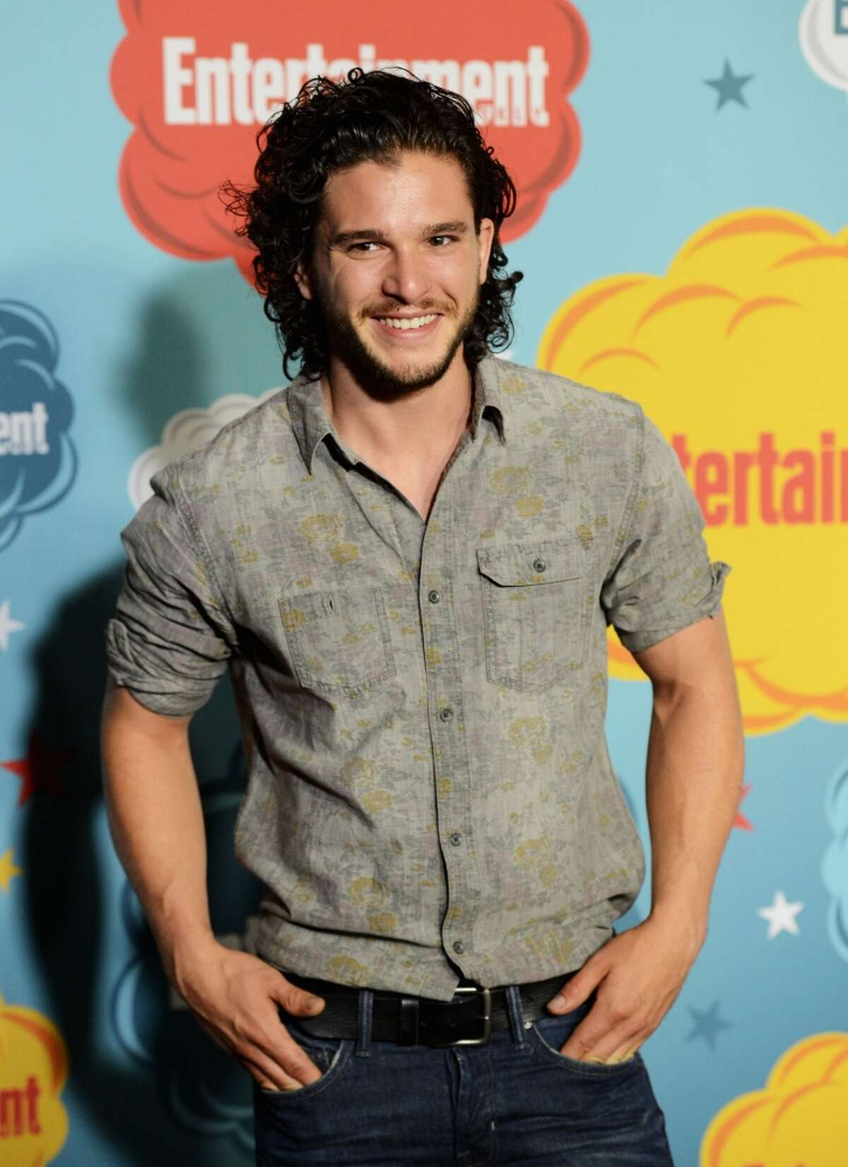 Kit Harington looking a lot less worried.