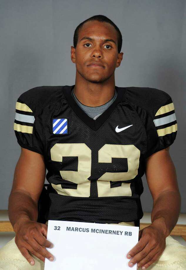 Marcus Dixon in his Westpoint football uniform. Dixon used the name Marcus McInerney when he played for West Point in 2010.  Dixon died Thursday Sept. 13, 2012 after accidentally shooting himself in the head in a Stillwater Road residence in Stamford, Conn. Photo: Contributed Photo / Connecticut Post Contributed
