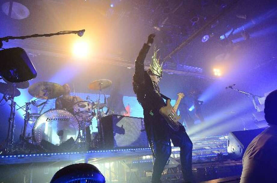Empire of the Sun singer Luke Steele at Warehouse Live. Photo: Jamaal Ellis/For The Chronicle