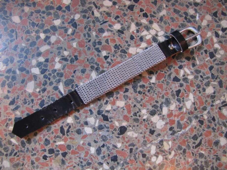Embellished belt buckle bracelet, Ella + Scott, Beaumont, $18 Photo: Cat5
