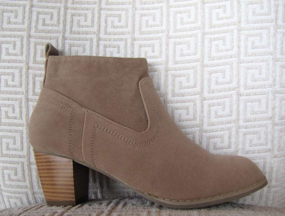 Taupe booties, Ella + Scott, Beaumont, $29 Photo: Cat5
