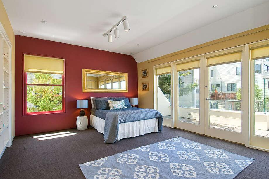 This lower level room opens to an outdoor patio. Photo: OpenHomesPhotogaphy.com