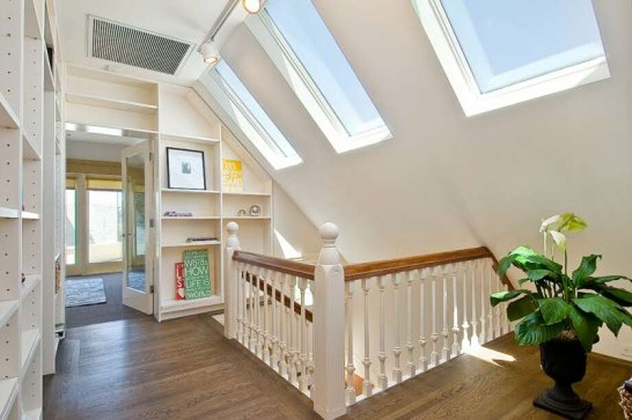Skylights brighten the top floor landing. Photo: OpenHomesPhotogaphy.com