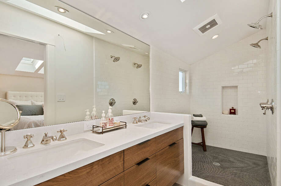 The property has a gray water system that sends shower water to the garden. Photo: OpenHomesPhotography.com