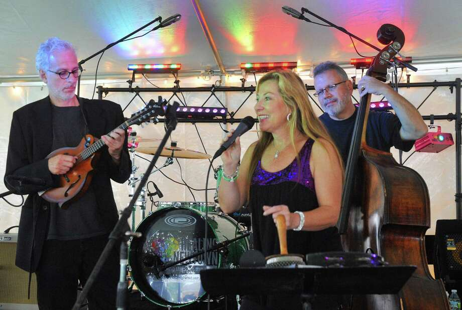 """Goldrush,"" a band from Sandy Hook, performs a composition by Dick Neal, left, at the Newtown Arts Festival, an eight-day ""celebration of the arts,""  on the Fairfield Hills campus in Newtown, Conn. Saturday, Sept. 21, 2013. Photo: Michael Duffy / The News-Times"