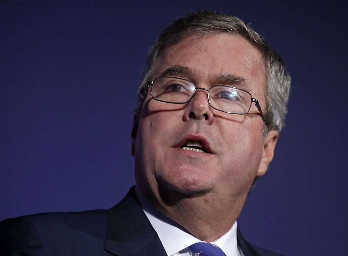 In this Aug. 9, 2013 file photo, former Florida Gov. Jeb Bush speaks at the American Legislative Exchange Council's 40th annual meeting, in Chicago.