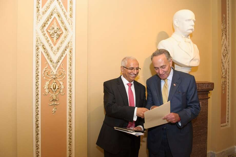 Sen. Schumer and Ajit Manocha