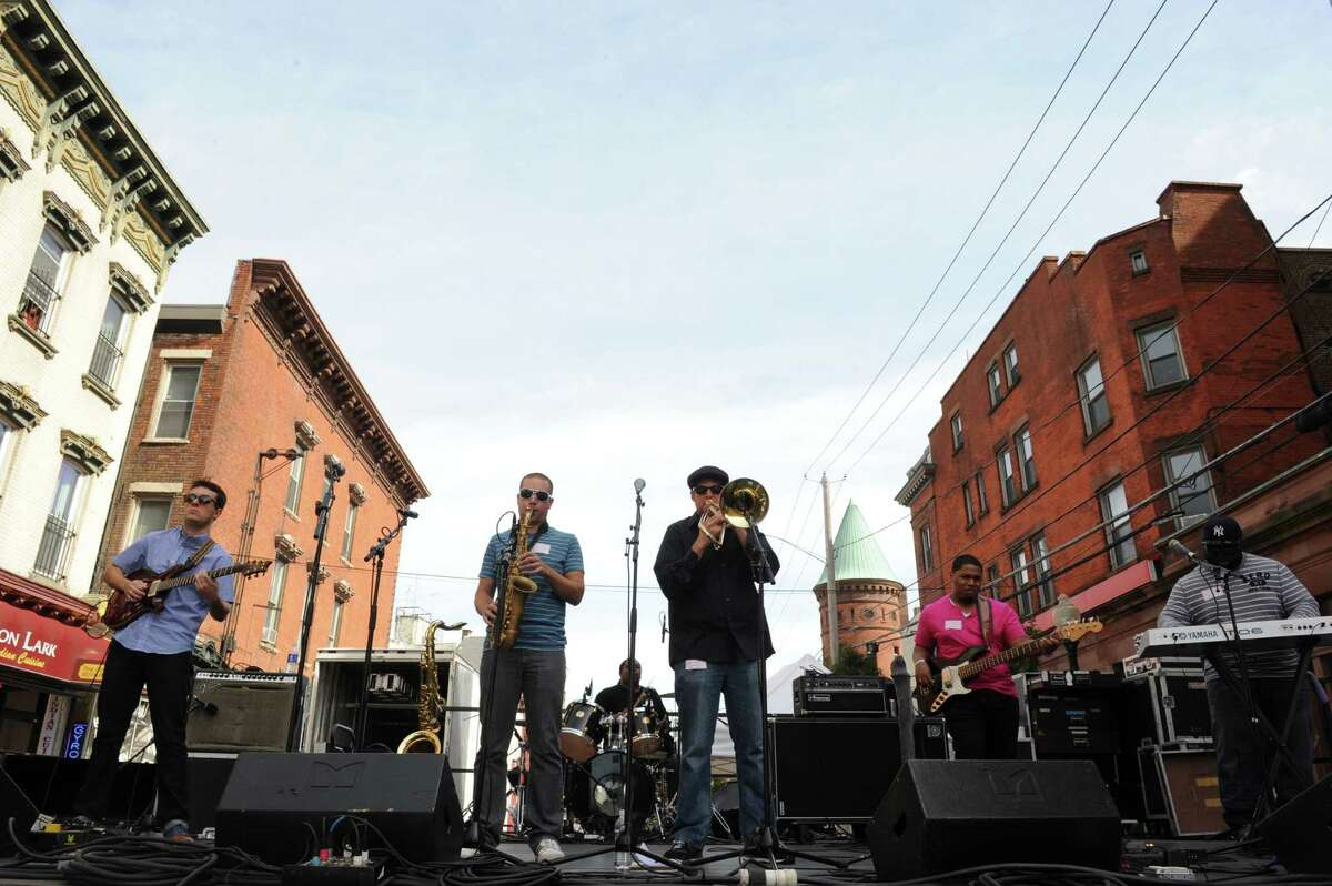 The Chronicles perform on the Washington Ave stage during the 2013 LarkFest on Saturday Sept. 21, 2013 in Albany, N.Y. (Michael P. Farrell/Times Union)
