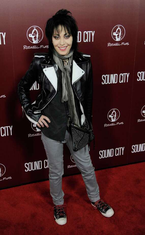 "Singer Joan Jett poses at the premiere of the documentary film ""Sound City"" on Thursday, Jan. 31, 2013 in Los Angeles. (Photo by Chris Pizzello/Invision/AP Images) Photo: Chris Pizzello / Invision"