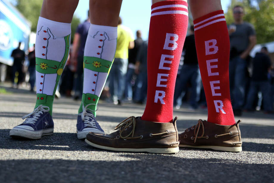 Participants wear stylish socks during the annual Fremont Oktoberfest on Saturday, Sept. 21, 2013. Photo: JOSHUA TRUJILLO, SEATTLEPI.COM / SEATTLEPI.COM