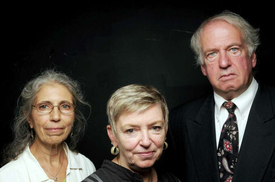 Carole Ferraro, left ,Diane Reiner and John Amidon, area peace activists who paid Syrian leader Assad a visit in his prez palace in 2005, on Wednesday Sept. 18, 2013 in Colonie, N.Y. (Michael P. Farrell/Times Union) Photo: Michael P. Farrell / 00023885A