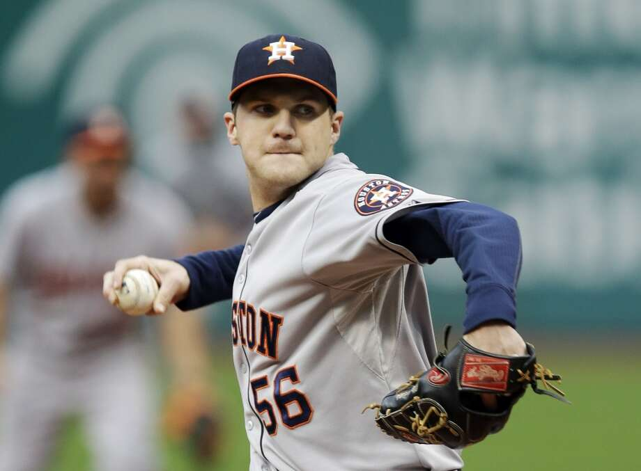 Astros starting pitcher Paul Clemens delivers against the Indians. Photo: Mark Duncan, Associated Press