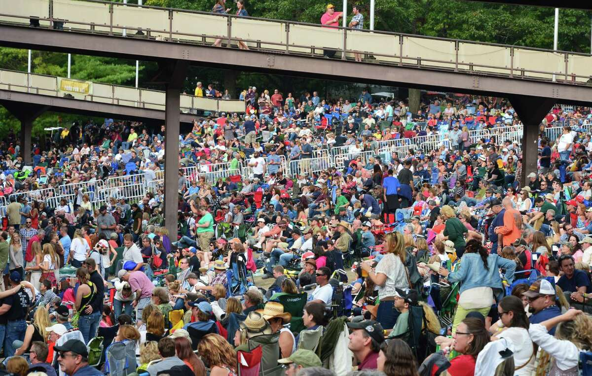 A sell-out crowd packs SPAC for Farm Aid 2013 Saturday Sept. 21, 2013, in Saratoga Springs, NY. (John Carl D'Annibale / Times Union)