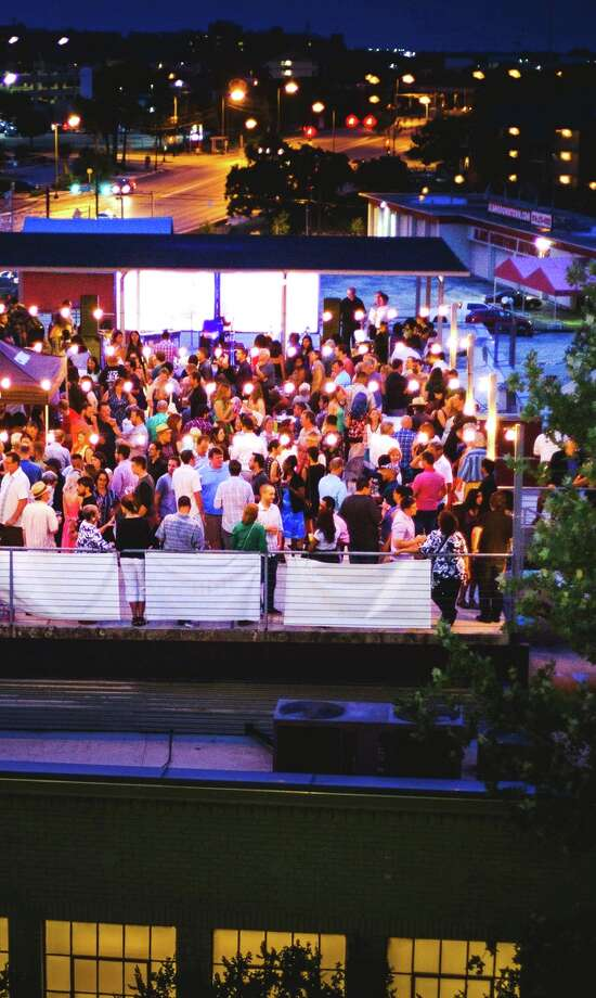 The scene from the rooftop of Artpace, which has collaborated with KRTU FM for a series of rooftop jazz events. Photo: Courtesy Photo