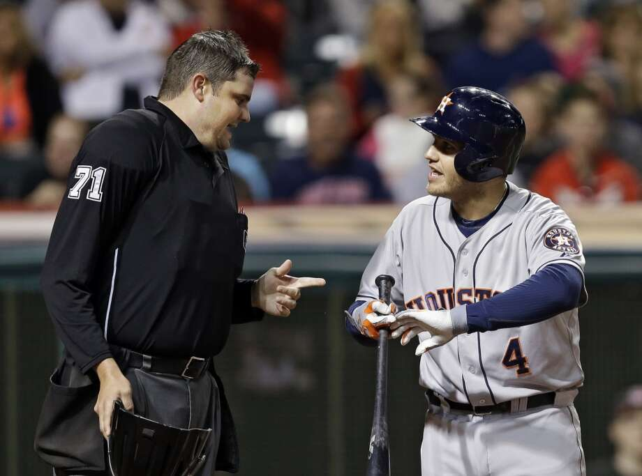 Sept. 21: Indians 4, Astros 1  Cleveland struck for three first-inning runs and the Astros were not able to get on the board until the ninth inning as the Indians extended the Astros' season-long eight-game losing streak.  Record: 51-104. Photo: Mark Duncan, Associated Press
