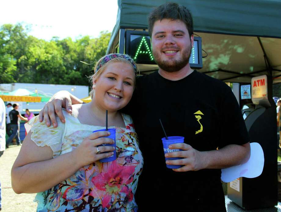 San Antonians enjoyed the party atmosphere and margaritas at the Sunken Garden Theater.