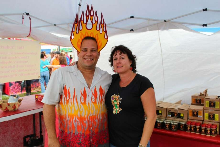 See who turned out for Day 1 of the Houston Hot Sauce Festival at the Stafford Centre. The heat continues from noon to 5 p.m. Sunday. Admission is $8, with children 12 and under free. For more information, click here. http://houstonhotsauce.com/ Photo: Jorge Valdez, For The Houston Chronicle
