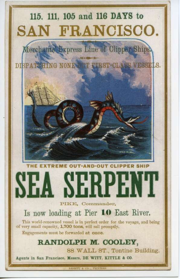 The 1300-ton Sea Serpent was built amid the whirl of excitement that greeted the flood of new clippers being launched in 1850. Photo: Courtesy The Bancroft Library