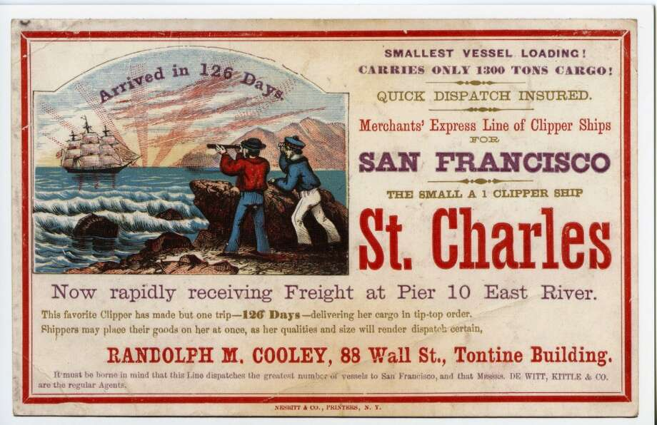Built in 1847, St. Charles was a New York-New Orleans packet for 13 years and only began the Cape Horn run with the advent of the Civil War. Photo: Courtesy The Bancroft Library