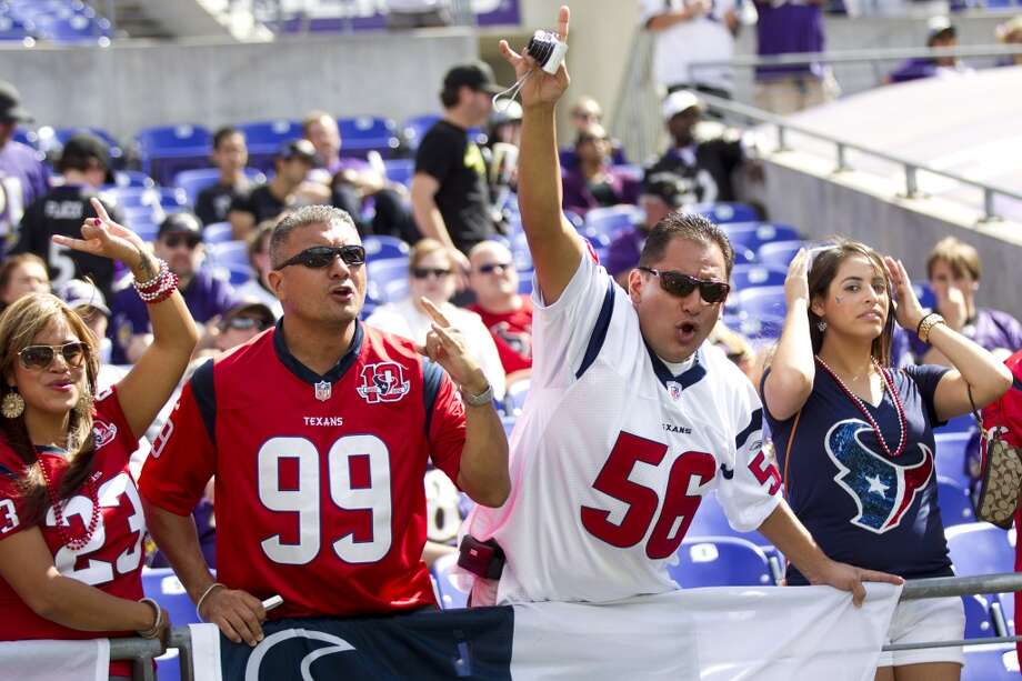 Texans fans show their support in Baltimore. Photo: Brett Coomer, Houston Chronicle