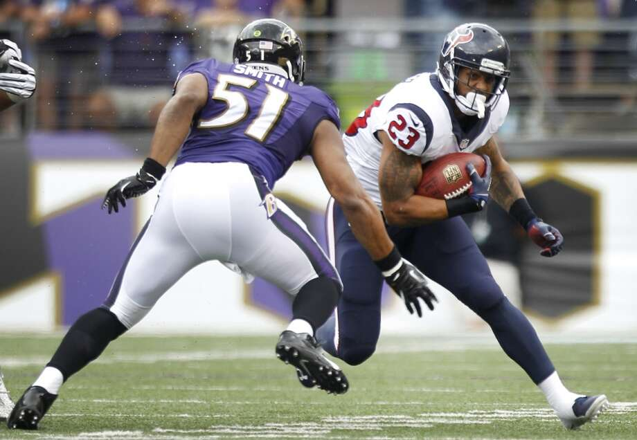 Texans running back Arian Foster against the Ravens. Photo: Brett Coomer, Houston Chronicle
