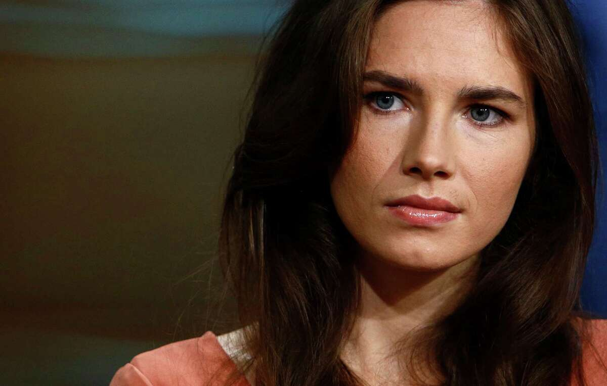 This image released by NBC shows Amanda Knox during an interview on the