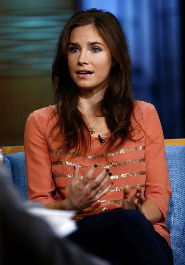 "Amanda Knox, right, during an interview with Matt Lauer on the ""Today"" show, Friday, Sept. 20, 2013 in New York. Photo: AP"