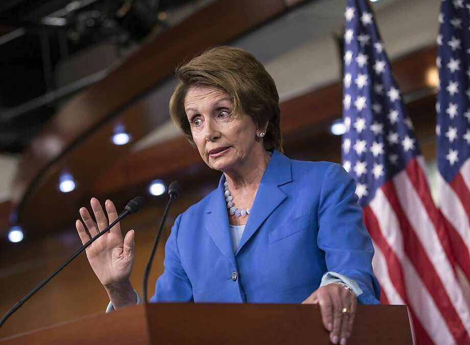 "Minority Leader Nancy Pelosi: GOP's tactics are ""juvenile."" Photo: J. Scott Applewhite, Associated Press"