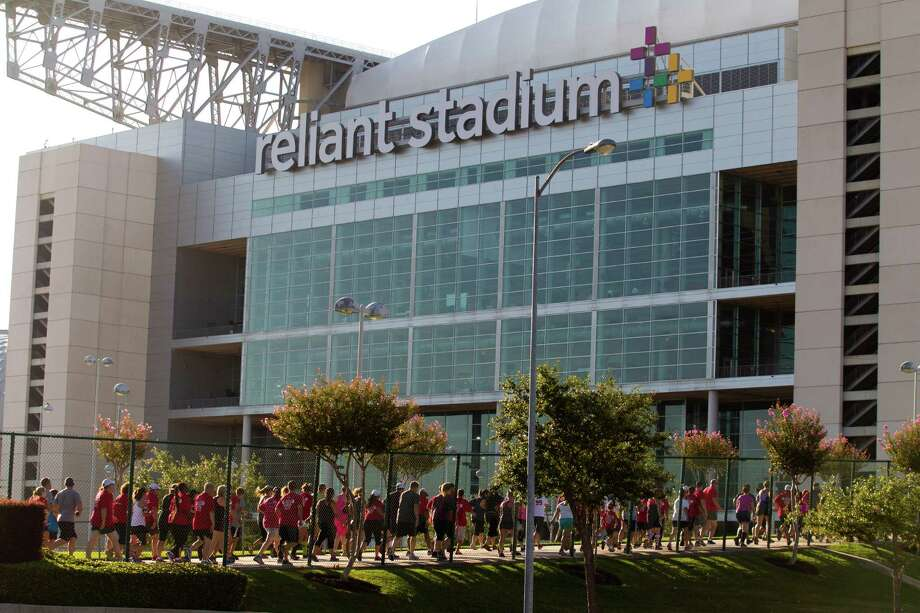Over 5500 runners participated in the 3rd Annual Running of the Bulls 5K Run/Walk at Reliant Park on Sunday, Sept. 22, 2013, in Houston. Proceeds benefit The Houston Texans Foundation and Houston Methodist. The race concluded on the field at Reliant Stadium, with runners crossing through the bull tunnel that the Texans players run through on game days. Photo: J. Patric Schneider, For The Chronicle / © 2013 Houston Chronicle