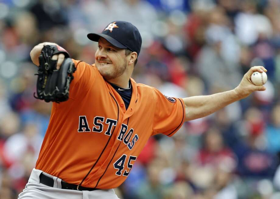 Astros starting pitcher Erik Bedard allowed six runs, six earned, on eight hits in five innings on Sunday. Photo: Mark Duncan, Associated Press