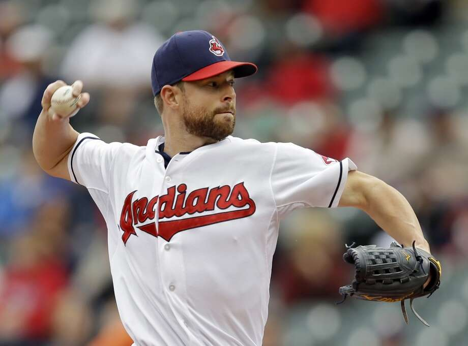 Corey Kluber allowed two runs on six hits in 5 1/3 innings. Photo: Mark Duncan, Associated Press