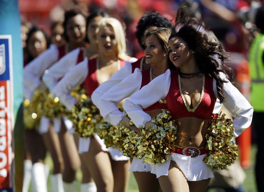 A San Francisco 49ers cheerleader performs during an NFL football game against the Indianapolis Colts in San Francisco, Sunday, Sept. 22, 2013. Photo: Marcio Jose Sanchez, Associated Press