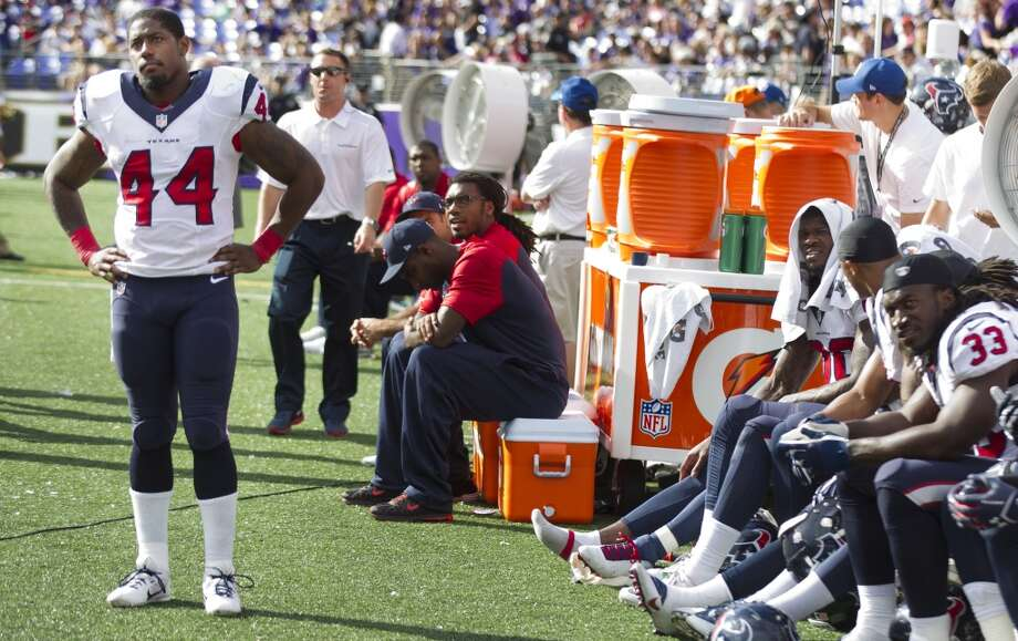 Texans running back Ben Tate on the sidelines during the Ravens game. Photo: Brett Coomer, Houston Chronicle