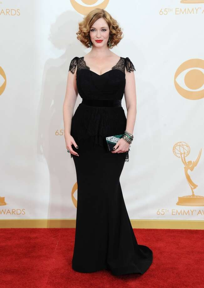 Christina Hendricks arrives at the 65th Primetime Emmy Awards at Nokia Theatre on Sunday Sept. 22, 2013, in Los Angeles.  (Photo by Jordan Strauss/Invision/AP) Photo: Jordan Strauss, Associated Press