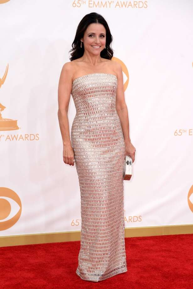 Actress Julia Louis-Dreyfus arrives at the 65th Annual Primetime Emmy Awards held at Nokia Theatre L.A. Live on September 22, 2013 in Los Angeles, California.  (Photo by Frazer Harrison/Getty Images) Photo: Frazer Harrison, Getty Images